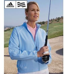 A24 Adidas Polyester ClimaProof Ladies Full-Zip Windshirt