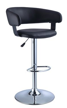 contemporary black bar stools with back support with modern powell Furniture 208-915 22 barrel back bar stool in black and chrome design