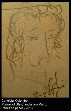 portrait, young girl, Ute, Riolo Terme, art, sketch, german woman, Italy, Faenza, Casola Valsenio