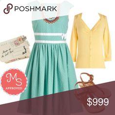 Coming Soon⭐️ Modcloth Bea & Dot Full Skirt Dress The perfect pin-up polka for dress ModCloth Dresses Midi