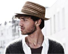 Chapeau Sawyer brown grey stripe Bailey