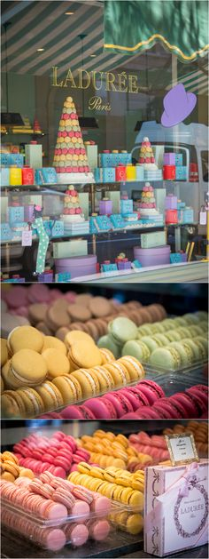 How amazing do these French Macarons look from Laduree in NYC? Don't forget to also make a stop by to the closest Duane Reade for all your NYC essentials! Restaurants In Paris, Oh Paris, I Love Paris, Macarons, New York Travel, Paris Travel, Thema Paris, Laduree Paris, Paris Bakery
