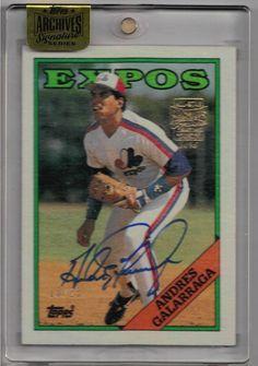 2016 Topps Archives Signatures Baseball Andres Galarraga Auto Serial #10/23 Card #1988ToppsBaseballOriginalBuyback #NLMontrealExpos