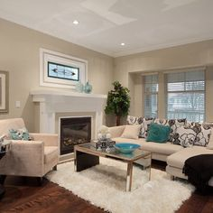 Living Room black and beige Design Ideas, Pictures, Remodel and Decor