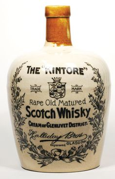 WB250, 190mm tall, 2 tone stoneware Whisky Jug, The Kintore rare Old Matured Scotch Whisky Cream of Glenlivet District, crazing… / MAD on Collections - Browse and find over 10,000 categories of collectables from around the world - antiques, stamps, coins, memorabilia, art, bottles, jewellery, furniture, medals, toys and more at madoncollections.com. Free to view - Free to Register - Visit today. #Whisky #Collectables #MADonCollections #MADonC