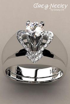 "Brilliant Luxury by Emmy DE * Greg Neeley ""V"" Top Princess Engagement Set"