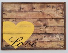 Wood Plank Love Sign Home Decor Sign Custom Rustic by wavynavy, $80.00