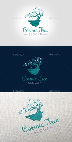 Cosmic Tree Logo EPS Template  • Only available here ➝ http://graphicriver.net/item/cosmic-tree-logo-template/16535137?ref=pxcr