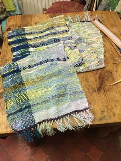 Quite a large project today - Saori style wrap