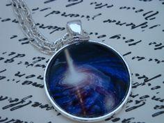 Galaxy XI-handmade glass pendant