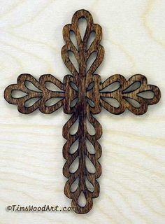 Tears in Heaven Baltic Birch Cross, for Wall Hanging or Ornament, Item S2-3