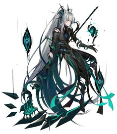 Elsword ( Ain ) Fantasy Demon, Anime Fantasy, Dark Fantasy Art, Evil Anime, Anime Demon, Epic Characters, Fantasy Characters, Female Character Design, Character Art