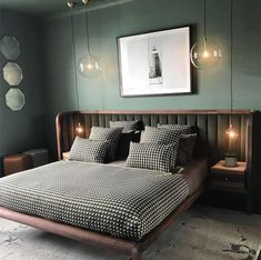 Whether it's light sage or forest green, get inspired by these green bedroom ideas to create a relaxing, restful space. Whether it's light sage or forest green, get inspired by these green bedroom ideas to create a relaxing, restful space. Home Decor Bedroom, Bedroom Inspirations, Home Bedroom, Bedroom Interior, Bed Design, Walnut Bedroom, Bedroom Green, Bedroom Lighting Design, Furniture Choice