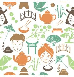 Seamless japanese pattern background vector by macrovector on VectorStock®