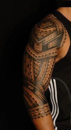 polynesische maori tattoos schultertattoo m nner modern. Black Bedroom Furniture Sets. Home Design Ideas