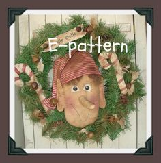Christmas Elf  Wreath E Pattern by SouthernBelleScentz on Etsy https://www.etsy.com/listing/115075346/christmas-elf-wreath-e-pattern