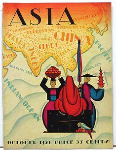 Franck McIntosh`s Asia Magazine, October 1928