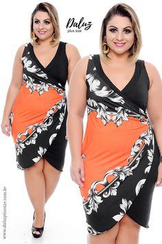 Vestido Plus Size Gipsy - Coleção Vestidos de Festa Plus Size - @daluzplussize Vestidos Plus Size, Plus Size Dresses, Plus Size Outfits, Curvy Fashion, Plus Size Fashion, Mix Style, Blouse Styles, Lace Tops, Dress Patterns