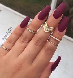 11 Trendy Easy Nail Art Ideas: #2. Purple Matte Nails