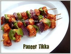 Priya's Versatile Recipes: Paneer Tikka