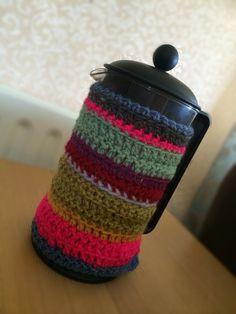 Crochet cafetiere cosy