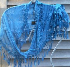 Blue Lace Infinity scarfBlue Lace Scarf Lace Scarf Festival scarf wedding Your place to buy and sell all things handmade scarf vintage Bridal Shawl, Wedding Shawl, Chapel Veil, Wedding Wraps, Lace Scarf, Summer Scarves, Vintage Scarf, Blue Lace, Bridesmaid Gifts