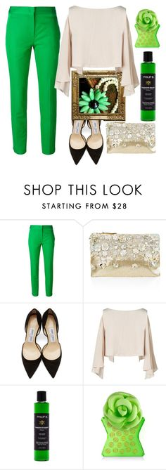 """Green power"" by bijouxinedit on Polyvore featuring Vionnet, Accessorize, Jimmy Choo, Leka, Philip B and Bond No. 9"