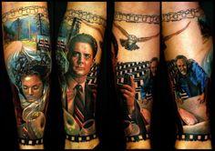 Badass Twin Peaks tattoo. Found in preparation for Halloween costumes!