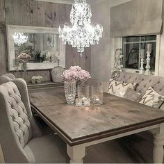7 Active Clever Tips: Industrial Shabby Chic Living Room shabby chic kitchen teal. Rustic Chic Decor, Rustic Bathroom Decor, Rustic Shabby Chic, Shabby Chic Homes, Rustic Room, Rustic Farmhouse, Kitchen Decor, Kitchen Tables, Kitchen Design