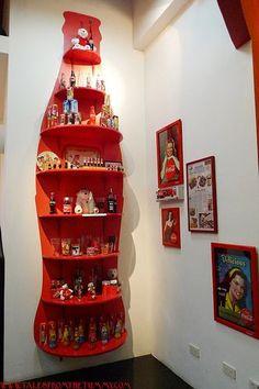 Clever Idea for Coca-Cola Knick Knacks or a shelf for Coke Glasses & Floats Glasses: