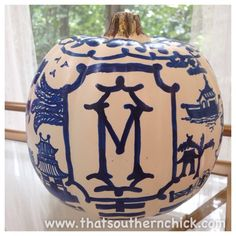 That Southern Chick: Chinoiserie Inspired Pumpkin Craft