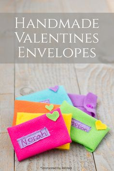 Handmade Valentines Envelopes: An Easy DIY Sewing Activity for Kids *so cute