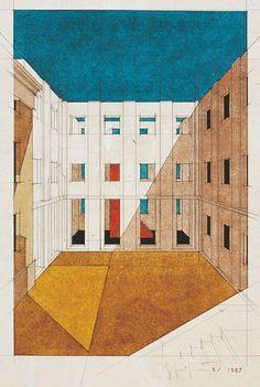 Giorgio Grassi · Ristrutturazione di un edificio monumentale in via Azario a Pavia