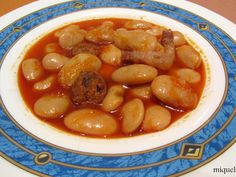 Spanish Stew, Spanish Dishes, Spanish Food, Spanish Recipes, Bean Recipes, Vegetable Recipes, Soup Recipes, Cooking Recipes, Chorizo
