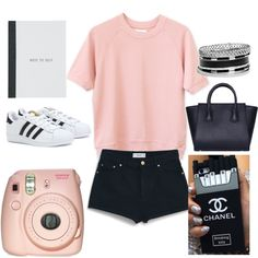 it's about the pink by maikehofman on Polyvore featuring polyvore mode style MANGO adidas GUESS