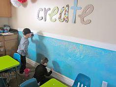 Chalkboard Wall - could be fun in AJ's big boy room.