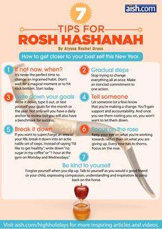 7 Tips for Rosh Hashanah
