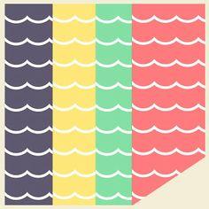 free digital waves scrapbooking and fun paper • ausdruckbares Geschenkpapier • freebie | MeinLilaPark – DIY printables and downloads