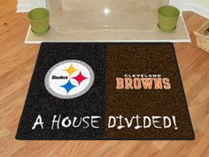 (click twice for updated pricing and more info) Pittsburgh Steelers - Cleveland Browns House Divided Rugs 34 #area_rugs #gameroom_rugs http://www.plainandsimpledeals.com/prod.php?node=12990=Pittsburgh_Steelers_-_Cleveland_Browns_House_Divided_Rugs_34#
