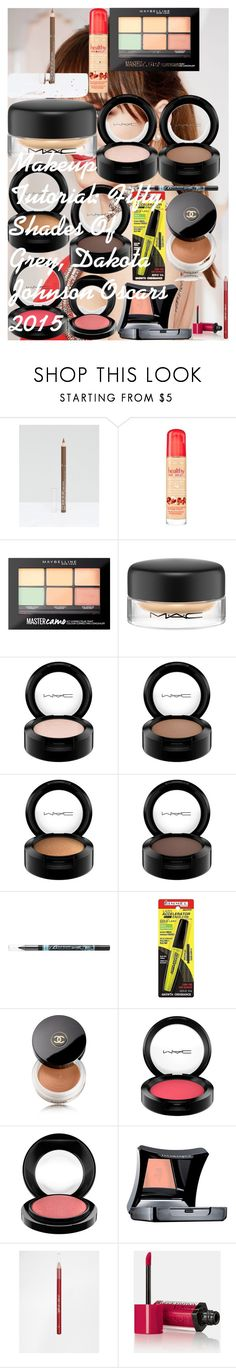 """Makeup Tutorial: Fifty Shades Of Grey, Dakota Johnson Oscars 2015"" by oroartye-1 on Polyvore featuring beauty, Rimmel, Bourjois, Maybelline, MAC Cosmetics, Barry M, Chanel and Illamasqua"