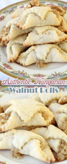 Authentic Hungarian Walnut Rolls enjoy this authentic Hungarian dessert with your next cup of coffee! Cookie Desserts, Just Desserts, Cookie Recipes, Delicious Desserts, Dessert Recipes, Yummy Food, Hungarian Cookies, Italian Cookies, Holiday Baking