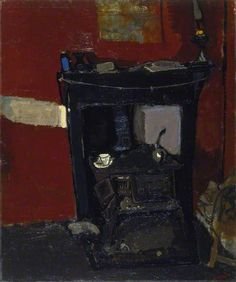 Joan Eardley - A Stove, about Oil on canvas on hardboard, x 79 cm, Collection: National Galleries of Scotland. Still Life Art, Art Uk, Sculpture, Your Paintings, Custom Art, Painting & Drawing, Painting Styles, Oil On Canvas, Pop Art