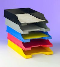A 5-Tray Filing System Every Teacher Needs - several simple systems meant to serve as an adjustable starting point.