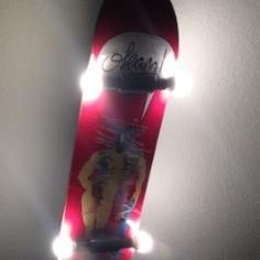 Selfmade Skateboard lamp (upcycling)