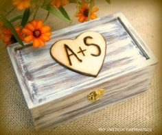 Ring Bearer Box Rustic Wedding Decor by MinSvenskaLandgard on Etsy, $28.00
