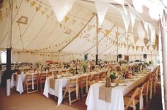 Rustic marquee looks Wedding Bunting, Marquee Wedding, Tent Wedding, Wedding Reception, Rustic Wedding, Our Wedding, Wedding Venues, Dream Wedding, Wedding Decorations