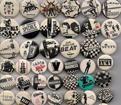 collect 'em all Genre Musical, Ska Music, Ska Punk, 80s Design, Acid House, Rude Boy, Skinhead, Pin And Patches, Post Punk