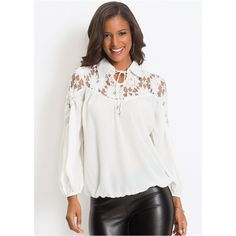 9c0ae0e83fe83 Venus Women s Floral Lace Blouse ( 39) ❤ liked on Polyvore featuring tops