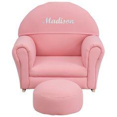 Personalized Pink Rocker Chair SF-03-OTTO-PK-TXTEMB-GG