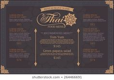 Find thai pattern stock images in HD and millions of other royalty-free stock photos, illustrations and vectors in the Shutterstock collection. Restaurant Names, Restaurant Menu Design, Pho Menu, Green Papaya Salad, Thai Pattern, Food Graphic Design, Thai Art, Pattern Images, Event Management